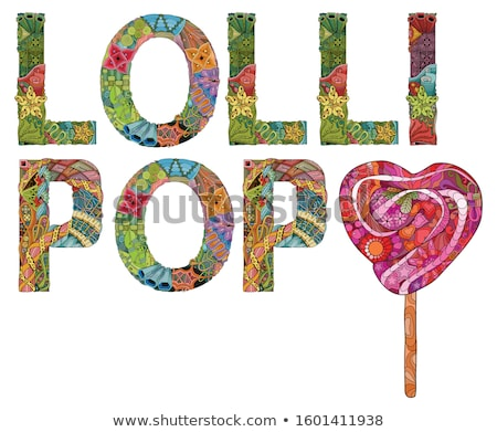 Stockfoto: Woord · lolly · snoep · vector · object · decoratie