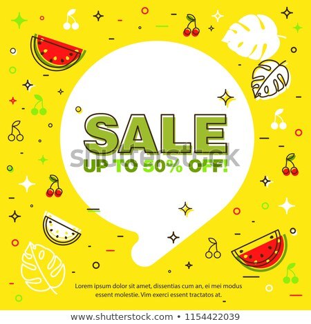 Summer sale background layout banners decorate with tropical leaf and watermelon. voucher discount,  Stock photo © ikopylov