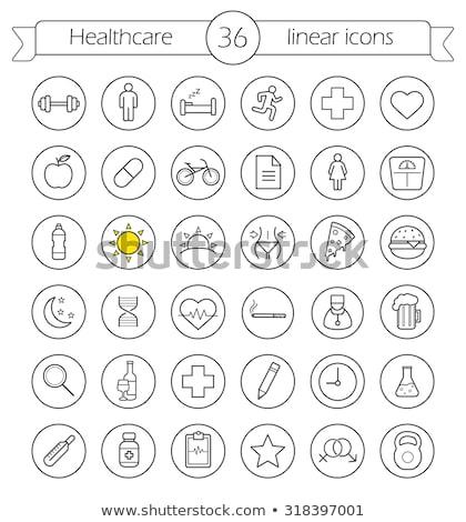 orvosi · szív · tabletta · ikon · szeretet · gyógyszertár - stock fotó © anna_leni