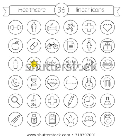 heart pill circle icon stock photo © anna_leni