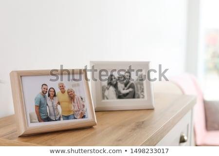 Familie fotolijstje illustratie boom baby hond Stockfoto © colematt