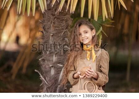 Menina coco delta Vietnã criança fruto Foto stock © ElenaBatkova