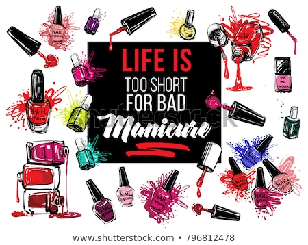 Bottle Of Pink Nail Polish Product Banner Vector Stock photo © pikepicture