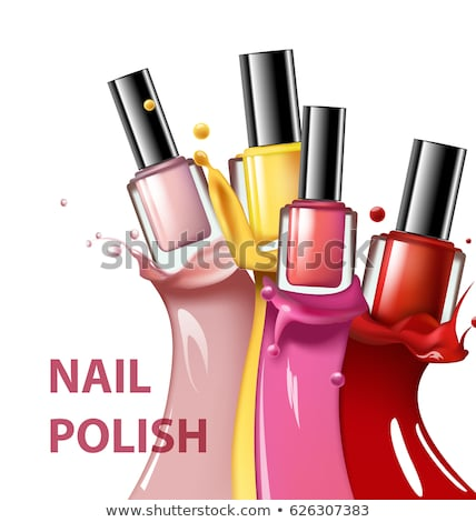 Bottle Of Blue Nail Polish Product Poster Vector Stock photo © pikepicture