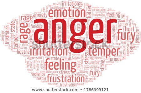 Anger word Stock photo © Spectral