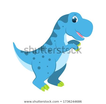 Cute blue dinosaur character Stock photo © colematt