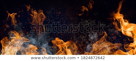 grill barbecue with red ashes sparkles Stock photo © lunamarina