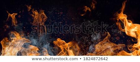 Grill barbecue rosso fuoco luce sfondo Foto d'archivio © lunamarina