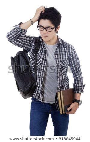 Teen Guy Study Pressure Stock photo © lenm
