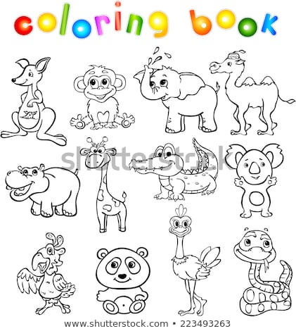 snakes animal characters group color book stock photo © izakowski