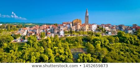 vieux · pierre · ville · vert · colline · panoramique - photo stock © xbrchx