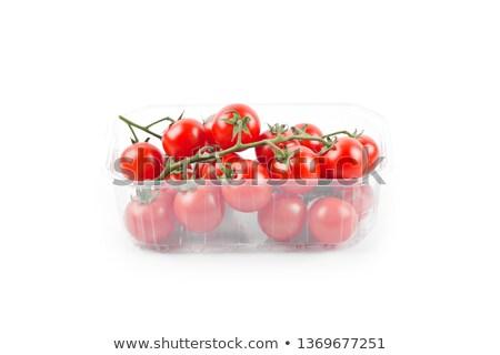 świeże organiczny pomidorki pojemnik odizolowany Zdjęcia stock © marylooo