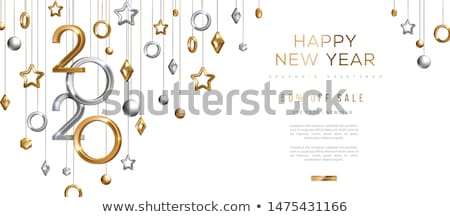 Noel tebrik kartı afiş vektör altın renk Stok fotoğraf © pikepicture