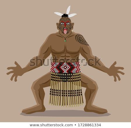 Guerreiro dançar ilustração homem homens celebração Foto stock © adrenalina