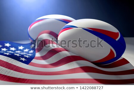 American Flag And Rugby Ball Pair Stock photo © albund