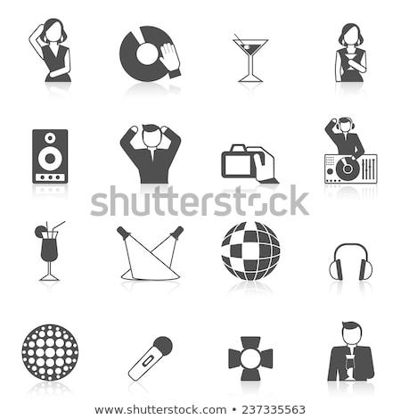 éjszakai klub ikon kör sablon terv hosszú Stock fotó © angelp