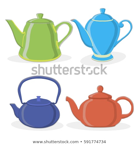 Coffee Pot and Cup with Sugar Container Set Vector Stock photo © robuart