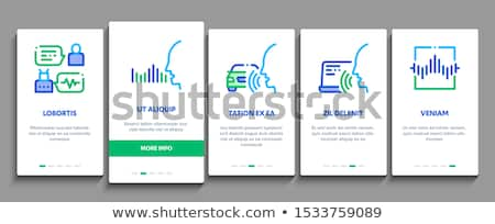 Stem controle communie vector mobiele Stockfoto © pikepicture