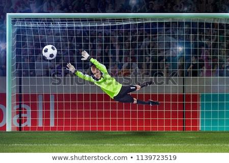 молодые Футбол вратарь вратарь игры Сток-фото © matimix