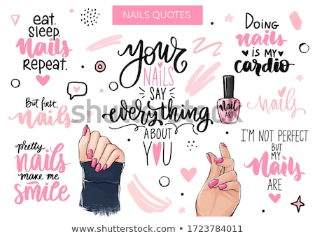 Illustrazione manicure chiodi donna mani bellezza Foto d'archivio © adrenalina