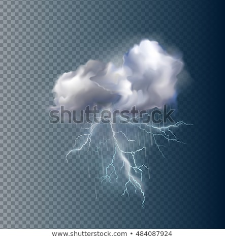 Tormenta nube flash rayo color vector Foto stock © pikepicture