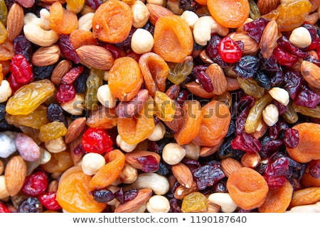 Mix of dried fruits and nuts. Stock photo © Masha