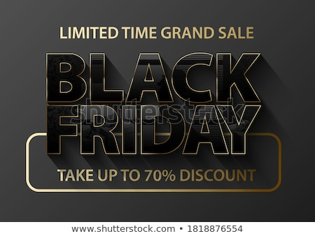 Poster black friday promotie vector tijd groot Stockfoto © robuart