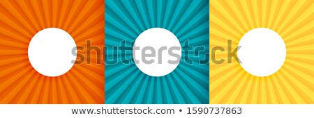 three sun burst background set with text space Stock photo © SArts