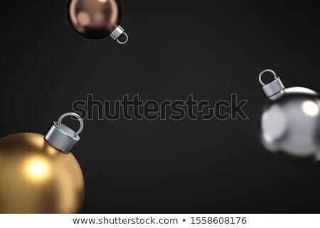 új év arany réz kártya 3D ünnep Stock fotó © cienpies