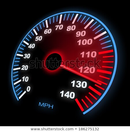 A Close up of the Blurred Illuminated Speedometer in Car Stock photo © hamik