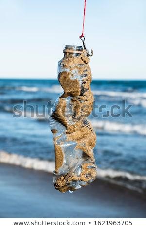 Usato plastica bottiglia pesce gancio primo piano Foto d'archivio © nito