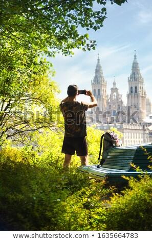 小さな 巡礼者 写真 教会 サンティアゴ ストックフォト © diego_cervo