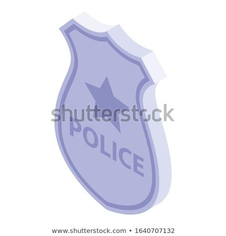 Cartoon gold police badge vector Stock photo © nezezon