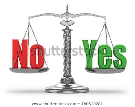 Választás igen nem mérleg piros gomb Stock fotó © -TAlex-