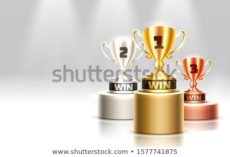 Beker podium illustratie metaal goud winnaar Stockfoto © adrenalina