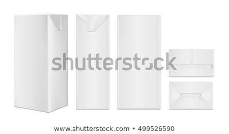 Mleka soku napoje pakiet biały Zdjęcia stock © netkov1