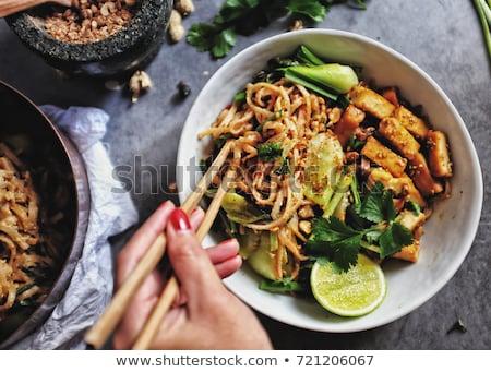 Delicioso casero tailandés crujiente Foto stock © Peteer