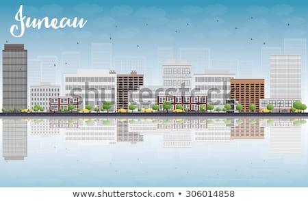 Alasca linha do horizonte cinza edifício blue sky cidade Foto stock © ShustrikS