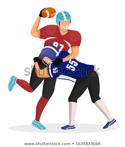 Man Kick His Opponent, American Football Game Stock photo © robuart