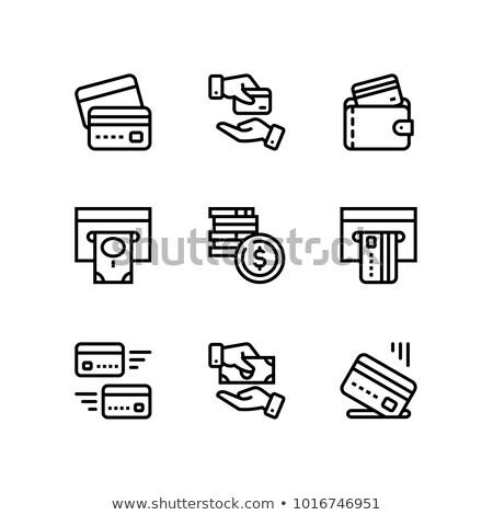 Fizetés pénz pénzügy kártya pénz vektor Stock fotó © karetniy
