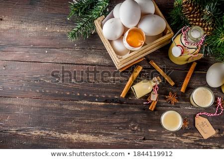 Glass of sweet egg liquor Stock photo © furmanphoto