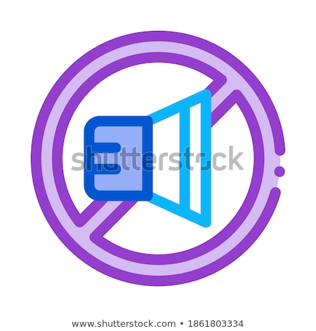 Orador prohibir icono vector ilustración Foto stock © pikepicture