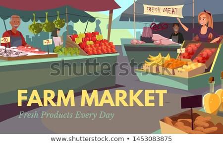 製品 カウンタ 公正 ベクトル 野菜 ストックフォト © robuart