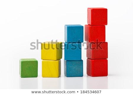 Speelgoed blokken stap trap houten speelgoed witte Stockfoto © goir