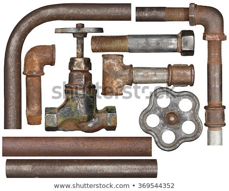 Old rusty pipes and valves Stock photo © franky242