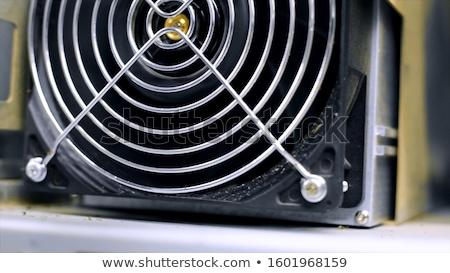 számítógép · ventillátor · fehér · szín · fekete · technológia - stock fotó © gewoldi