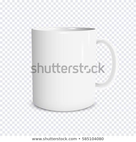 マグ 孤立した 白 背景 青 茶 ストックフォト © leeser