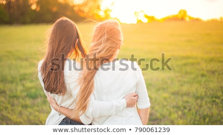 two young women in the countryside stock photo © photography33