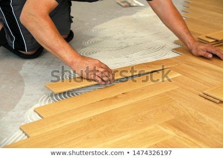 Primo piano texture legno legno natura desk Foto d'archivio © IMaster