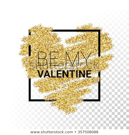 be my valentine in golden heart stock photo © marinini